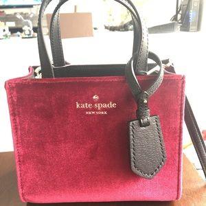 Kate Spade Red Velvet Bag